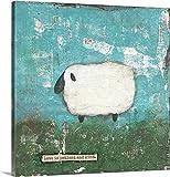 Canvas On Demand Cassandra Cushman Premium Thick-Wrap Canvas Wall Art Print, 30'' x 30'', entitled 'Faith Sheep'