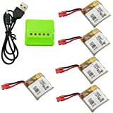 Fytoo 5PCS 380mah Lithium Battery &1pcs 5 in 1 Battery Charger for SYMA X21 X21W X26 D15 X100 Helicopter Spare Parts…