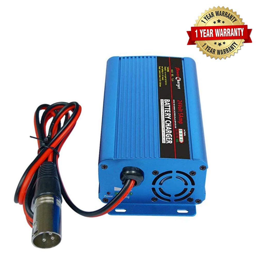UK Plug 24V 5A Full Automatic Battery Charger With XLR Connector Maintains and Reconditions For Car Scooter Wheelchair Motorcycle eBike Charges