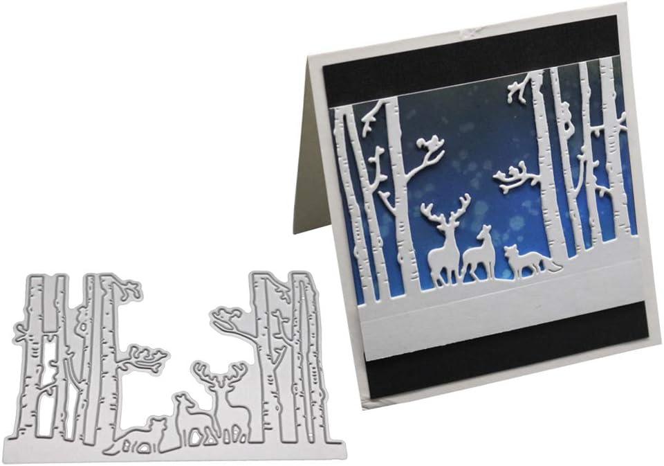 Animaux De La for/êt Chiic Scrapbooking Dies Cutting Matrices De D/écoupe Pochoirs Bricolage Album D/écoration Papier Carte Craft DIY Scrapbooking Mat/ériel