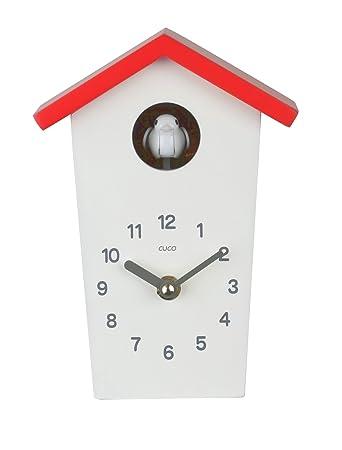Tischuhr Design cuco clock mini kuckucksuhr hochhaus mit buntem dach tischuhr