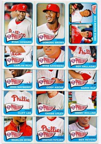 Philadelphia Phillies Mlb Card (Philadelphia Phillies 2014 Topps Heritage MLB Baseball Complete Mint Basic 15 Card Team Set with Ryne Sandberg Jimmy Rollins Chase Utley and)
