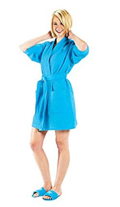 70a50de971 TowelSoft Thigh Length Waffle Weave Kimono Robe