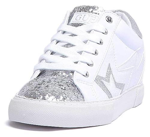 itScarpe E Borse Sneaker Guess White Flpot4pel12Amazon UpLGzVSqM