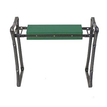 gardenhome folding garden seat and kneeler portable stool multiuse kneeling bench and seat