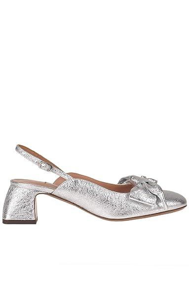 aef0d868ab850 L'Autre Chose Damen MCGLCAT000005019E Silber Leder Sandalen: Amazon ...