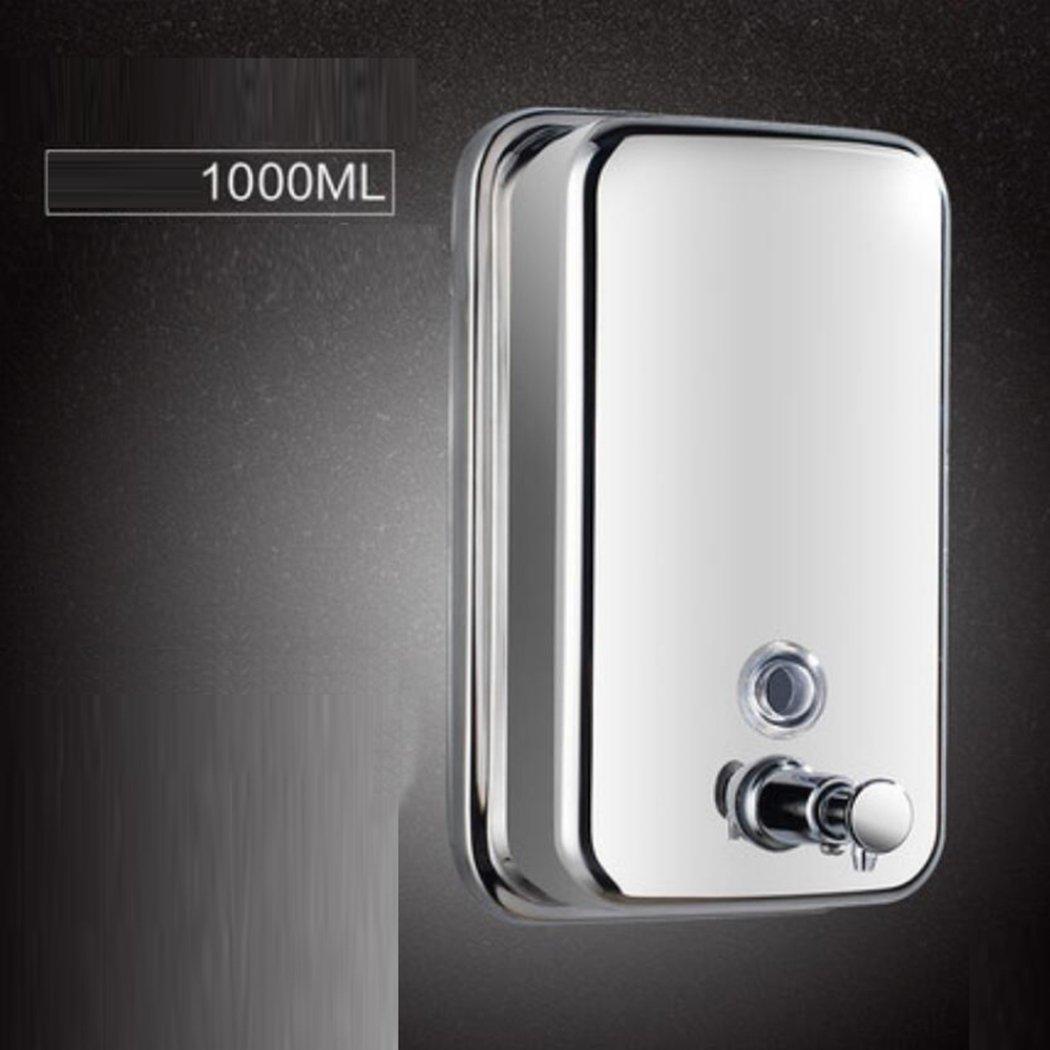 Dispenser di sapone da bagno, in acciaio inox a parete per il bagno Dispenser per le mani disinfettante a doppia testa Scatola di sapone, distributore di sapone a muro per hotel Distributore di shampoo, Formato prodotto: 22cm * 4.9cm * 5.5cm,Bright light,1