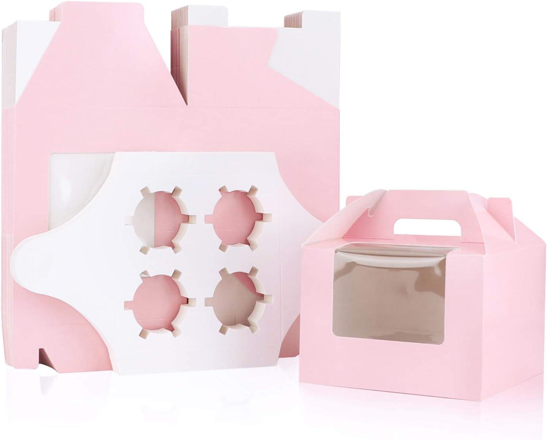 Pink Cupcake Boxes, Eusoar5.9