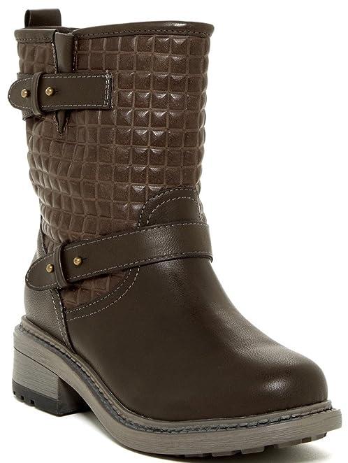Duna Womens Fashion Textured Shaft Boots
