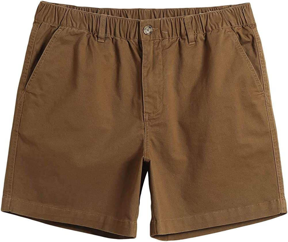 Multi-Pocket Hybrid Walk Short MaaMgic Mens Classic-fit 7 Stretch Cotton Casual Shorts with Elastic Waistband