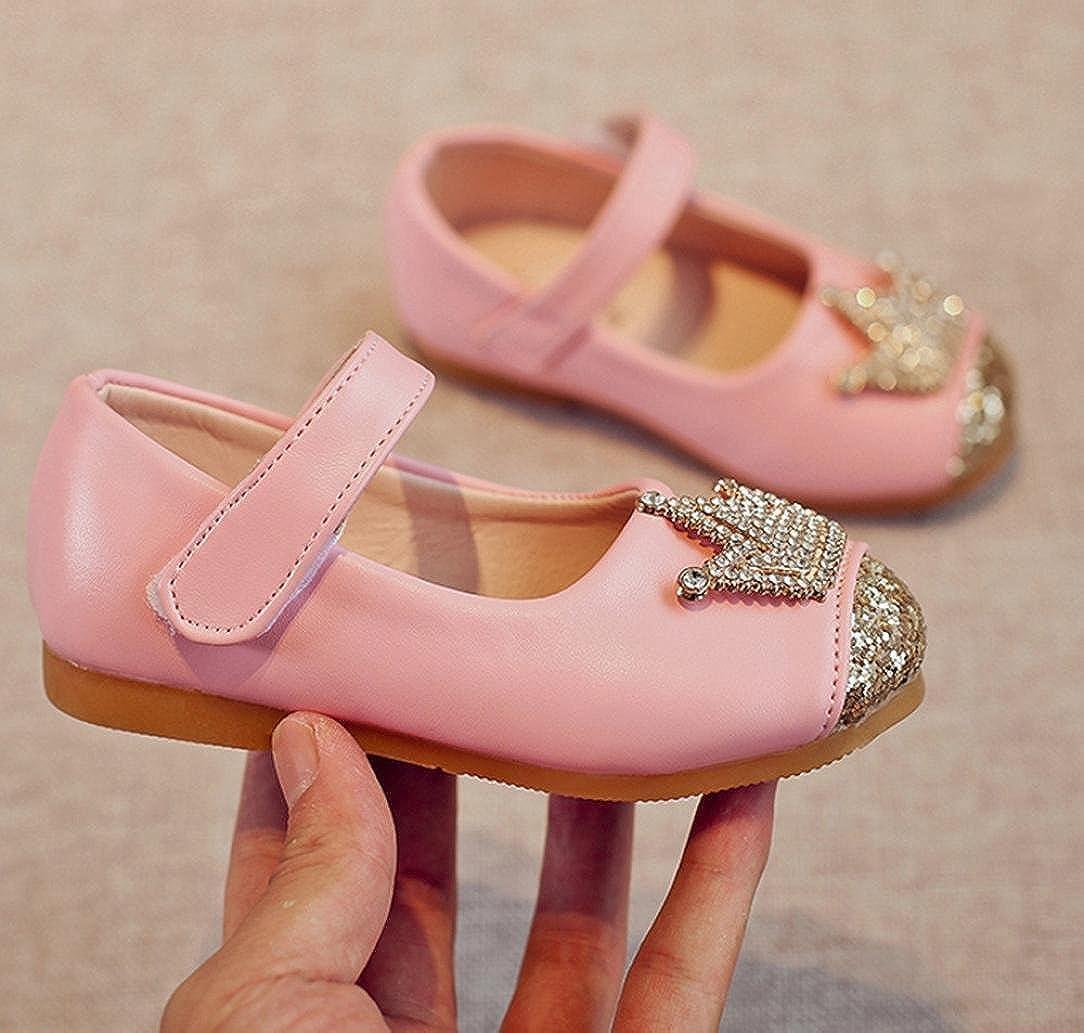 Fullfun Toddler Girls Baby Beading Princess Crown Sandals Flat Shoes