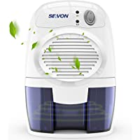 SEAVON Electric Portable Dehumidifiers for Home Quiet Dehumidifiers for Basement, Bedroom, Bathroom, RV, Closet, Auto Shut Off
