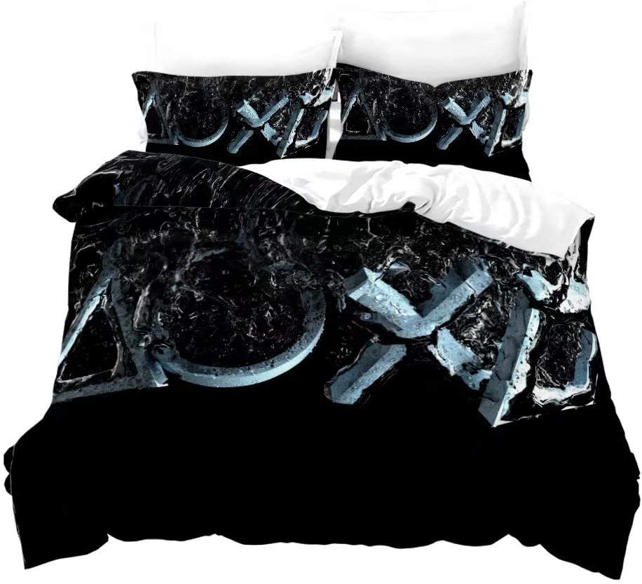 1 Duvet Cover with 2 Pillow Cases T7 Siyarar Playstation Duvet Cover Set for Teen Boys Full Size Bedding Sets 2pcs