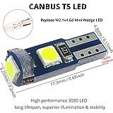 WLJH 10 Pack White Canbus T5 Led Bulb 2721 37 74