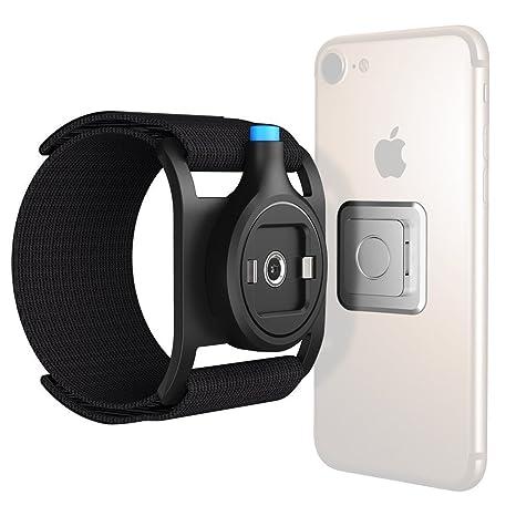 Brazalete Deportivo para Moviles, SGODDE magnético Universal teléfono clip para el cinturón para running senderismo ciclismo negro (no incluye teléfono ...