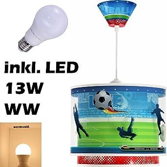 Led Lampe Kinderzimmer Decke Pendelleuchte Fussball 60462 Warmweiss 1300lm Jungen