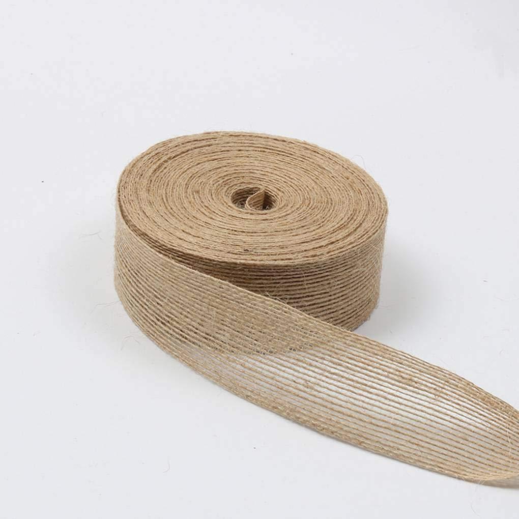 Roll Naturale Iuta della Tela da Corona Craft Wrap dellAssia Ribbon Tabella Bandiera di Nozze la casa e Giardino Torta Regalo Accessori Fai da Te Kakiyi 10M