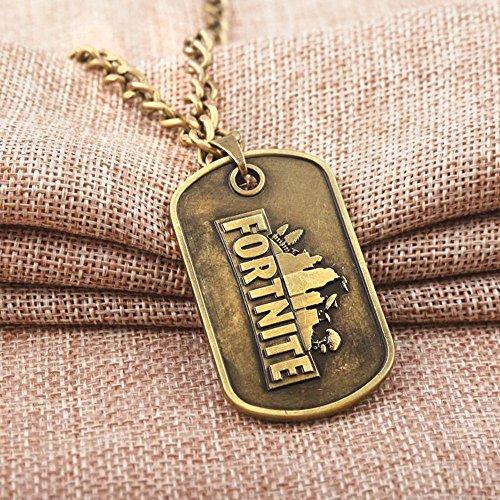 Dolovely Fortnite Logo Battle Royale Game Necklace Dog Tag Pendant Necklace by Dolovely (Image #1)
