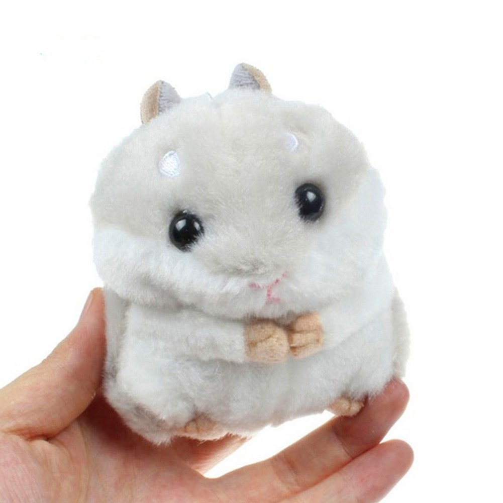 Yamalans Cute Plush Hamster Pendant Key Chain Clasp Key Ring Keyring Handbag Car Decor