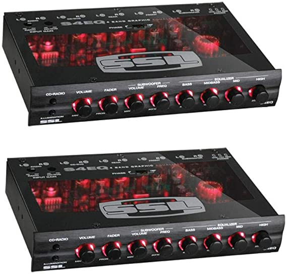 10 Pack Soundstorm SSL 4 Band Pre Amp Graphic Car Audio Stereo Equalizer EQ