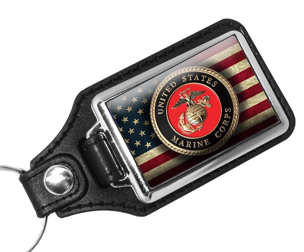 Brotherhood Marine Corps License Plate and Marine Corps USMC Keychain Marine Corp Gifts