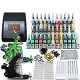 Beginner Tattoo Kit Set 54 Color Inks Power 2 Guns Set