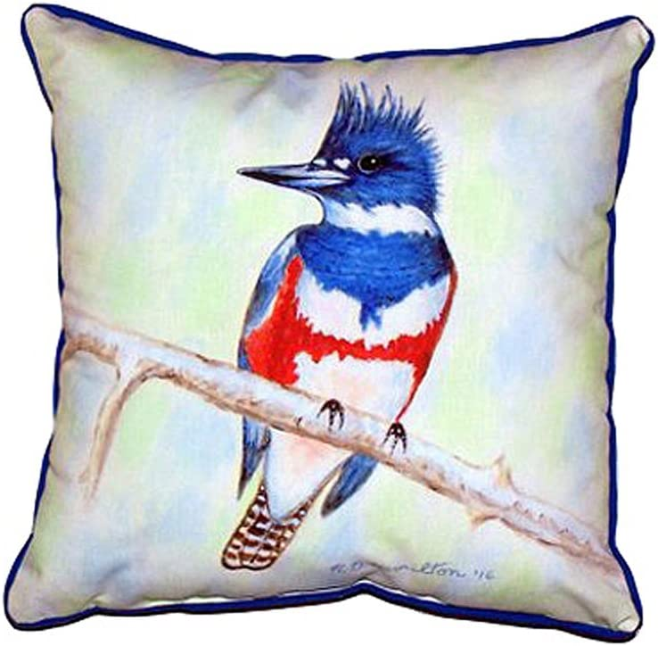 Betsy Drake Sn363 Kingfisher Small Indoor Outdoor Pillow 12 X12 Home Kitchen