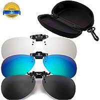 BOBO-Y Gafas de Sol con Clip para anteojos graduados,3 Pcs polarizado Lentes Gafas de Sol Gafas con Clip Anti Reflejante Protección UV, para conducción/Pesca/esquí/Deporte, Unisexo