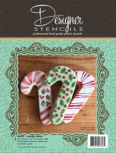 - Candy Cane Cookie Cutter and Stencil Set by Designer Stencils