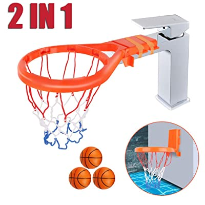 Libobo 2 in 1 Bath Toy Fun Basketball Hoop & Basketballs Set for Boys and Girls: Home & Kitchen