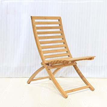 Taburetes MAZHONG Sillas de Playa Ociosas Sillas Plegables de bambú ...