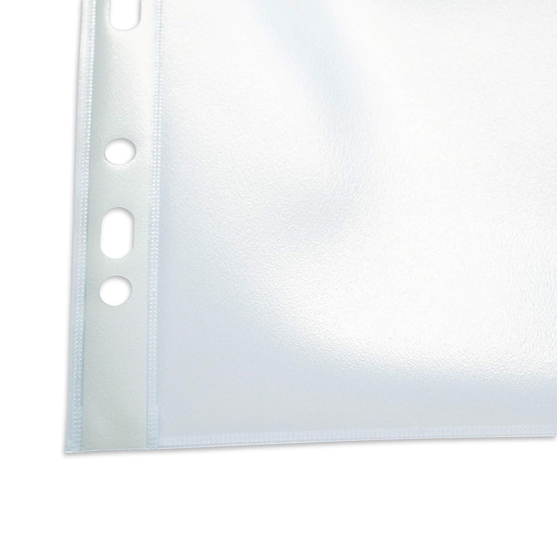 adatta a lucidi, adatta a documenti ufficiali, aperta sopra 100 pezzi in cartone in PP Elba 100460990 trasparente Busta portadocumenti Premium 0,12 mm A4
