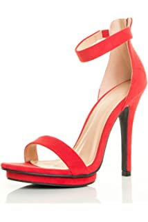 588c0deb1 Wild Diva Amy-01 Womens Open Toe Ankle Strap High Stiletto Heel Platform  Pump Sandal