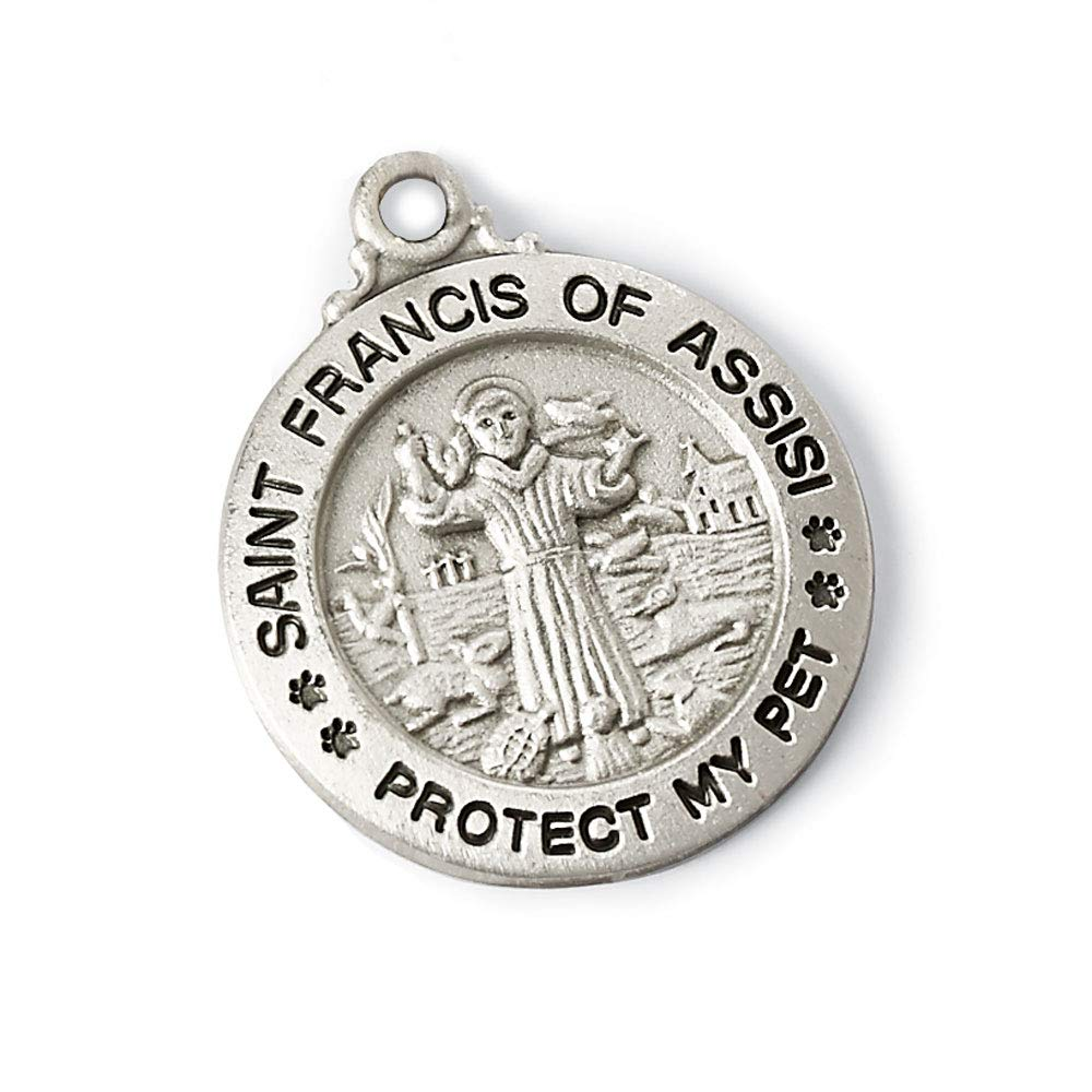 Bits Pieces St. Francis Assisi Medal Predect Your Pet This Embossed Charm