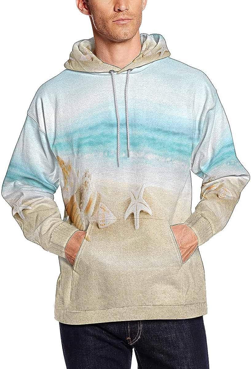 Marine Sweatshirts Hoodie Corals and Starfishes INTERESTPRINT Mens Seashells