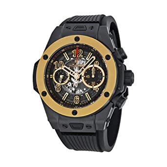 Image Unavailable. Image not available for. Color  Hublot Big Bang Unico  Magic Automatic Gold Skeleton Dial Black ... 5d583f9587