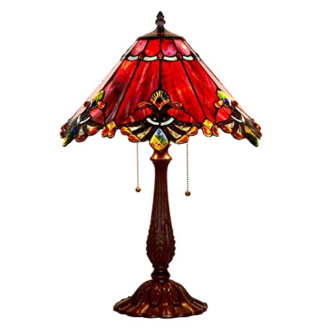 Bieye l10024 17 inch baroque tiffany style stained glass table lamp bieye l10024 17 inch baroque tiffany style stained glass table lamp with zinc base aloadofball Images