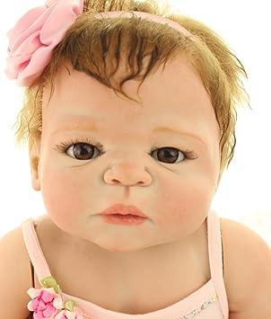 ZIYIUI 18pulgadas 45cm Cuerpo Completo de Silicona Reborn Baby Doll Recién Nacido Realistic Baby Doll Anatómicamente Correcto Muñeca de Toys Girl ...
