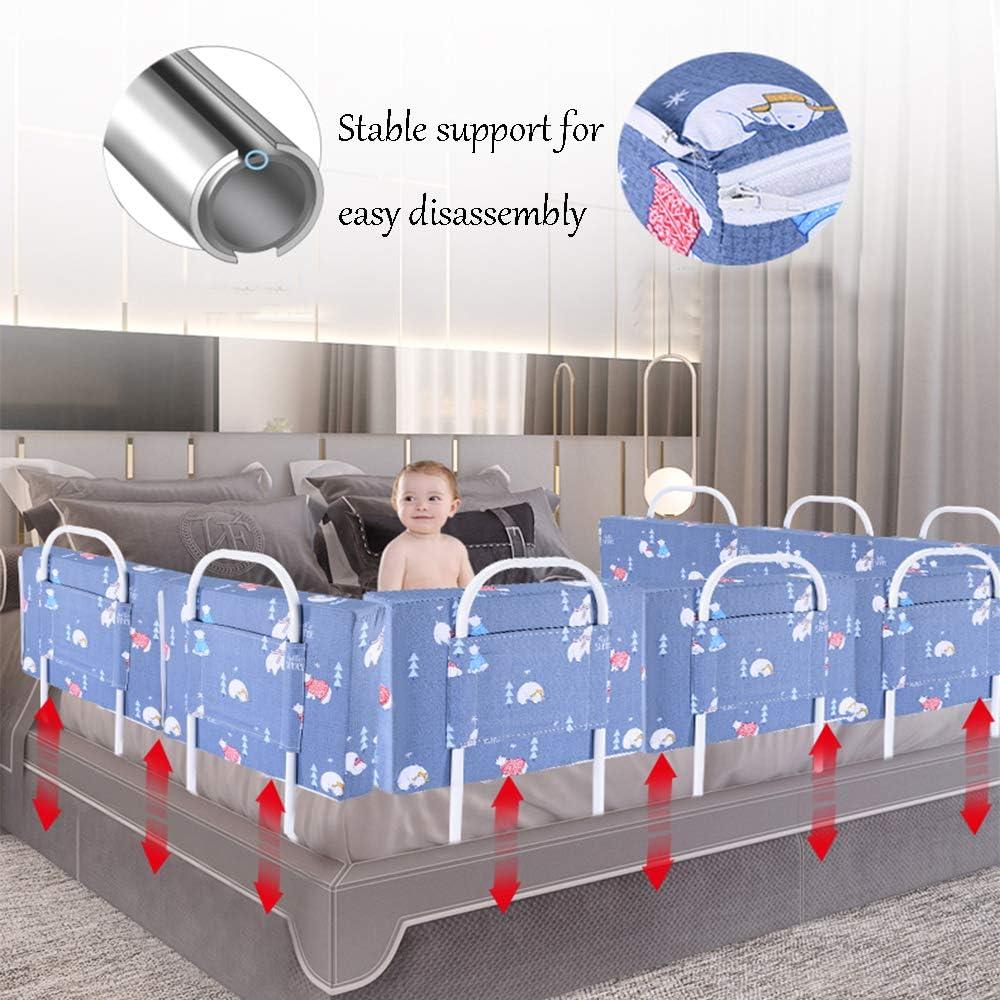 facile /à installe Garde-corps de lit anti-chute design portable longueur de barri/ère de lit de s/écurit/é pour b/éb/é de 50//60 cm mat/ériau en coton perl/é convient /à tout type de lit 20//24 po