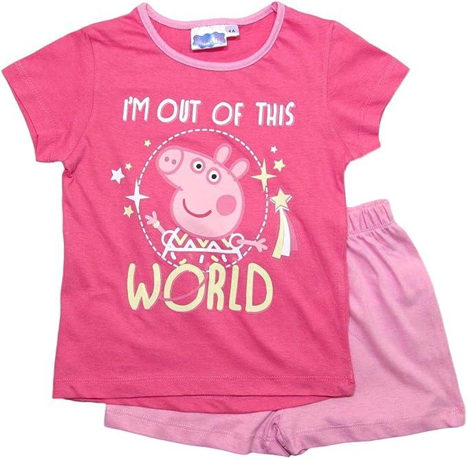 Peppa Pig - Peppa Wutz - Pijama - para niña Rosa 98 cm: Amazon.es ...
