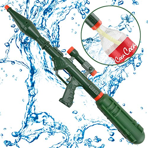 Super Water Cannons Summer Toys - Happytime TOP18010 2018 New Design 800CC Water Gun With Green Bottle for Kids Children Adults