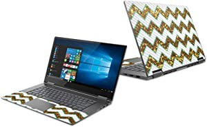 """MightySkins Carbon Fiber Skin for Lenovo Yoga 730 13"""" (2018) - Glitzy Chevron 