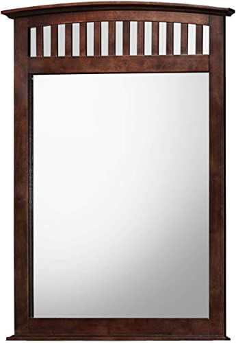 "The Bedroom Store | 42"" x 50"" Solid Wood Construction Framed Dresser Beveled Mirror"