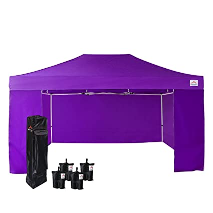 new styles f9cb7 e1e94 UNIQUECANOPY Pop up Canopy Tent 500D Enhanced 10x15 Ez Portable Folded  Commercial Canopy Car Shelter Wedding Party Show with 4 Zippered Side Walls  and ...