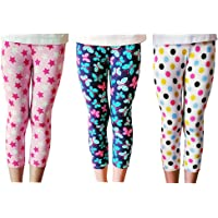 Lazzon Niñas Pantalones Leggings Cortos 3/4 Largos Deportiva Mallas para Chicas 2-13 Años