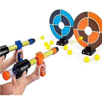 Majik Dueling Sniper Tag Shooting Target Game Ball Blasters Toy Kids WLM8: Toys & Games