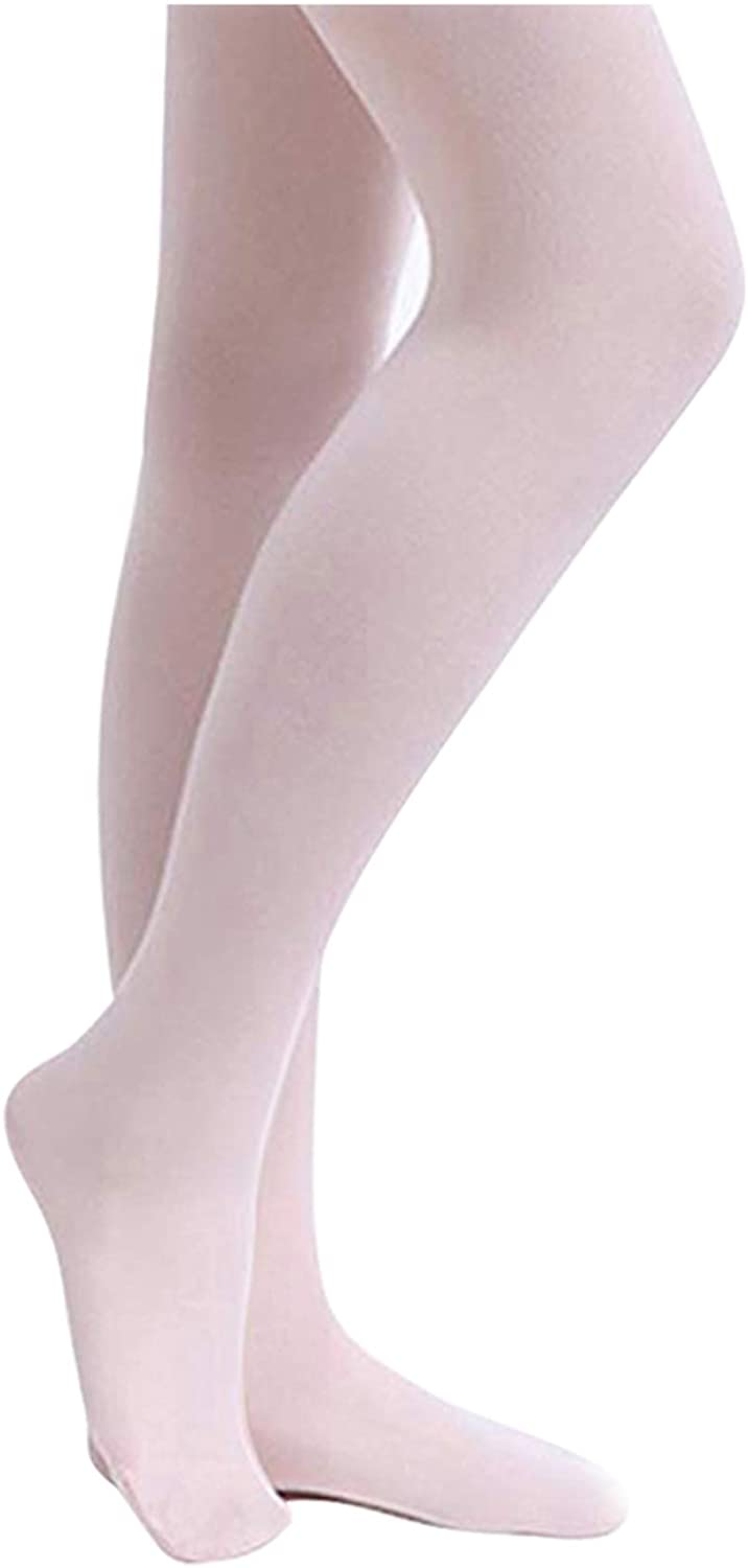STELLE Girls' Ultra Soft Pro Dance Tight/Ballet Footed Tight (Toddler/Little Kid/Big Kid): Clothing