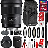 Sigma 50mm f/1.4 Art DG HSM Lens for Canon DSLR Cameras w/32gb Pro Photo and Travel Bundle
