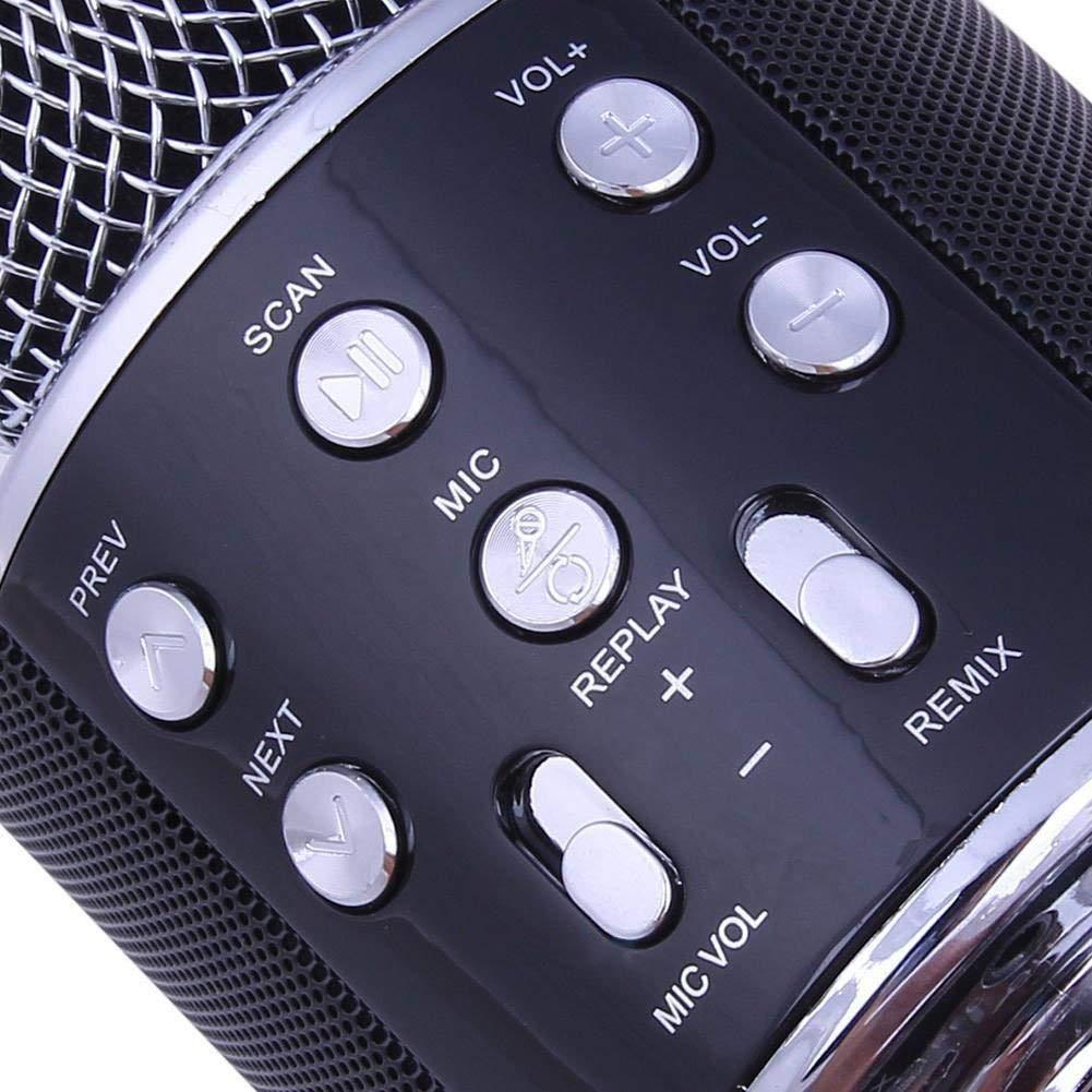 GOUPPER Wireless Bluetooth-Karaoke Hand Microphone Ktv USB Player Speaker Ru Wireless Karaoke Easyhold Microphone Ktv Player Bluetooth Microphone Speaker Shocking Pink