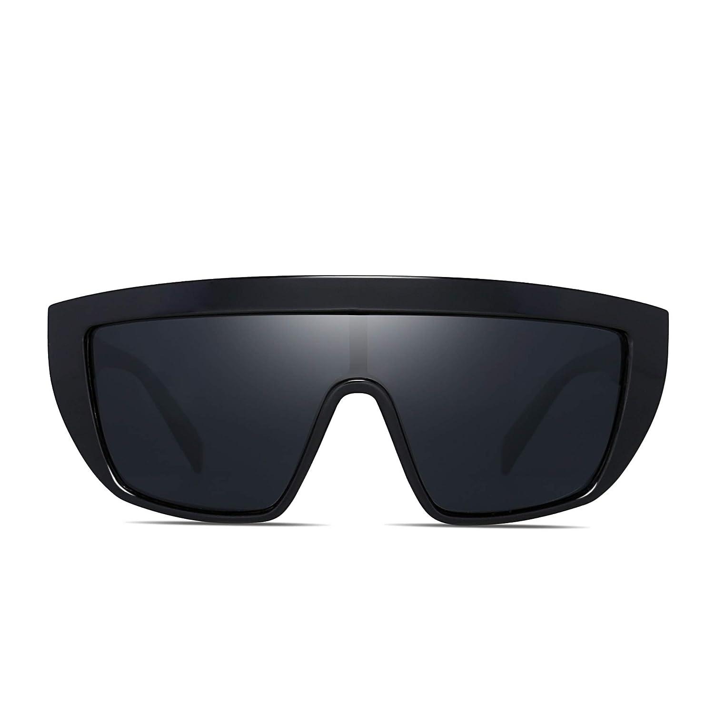 JM Moda Espejo Plano Top Escudo Gafas de Sol Polarizadas Destello Anteojos Para Hombre Mujer